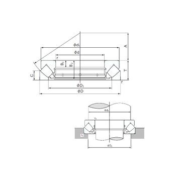 CRBS 1308 V UU IKO Підшипники тяги